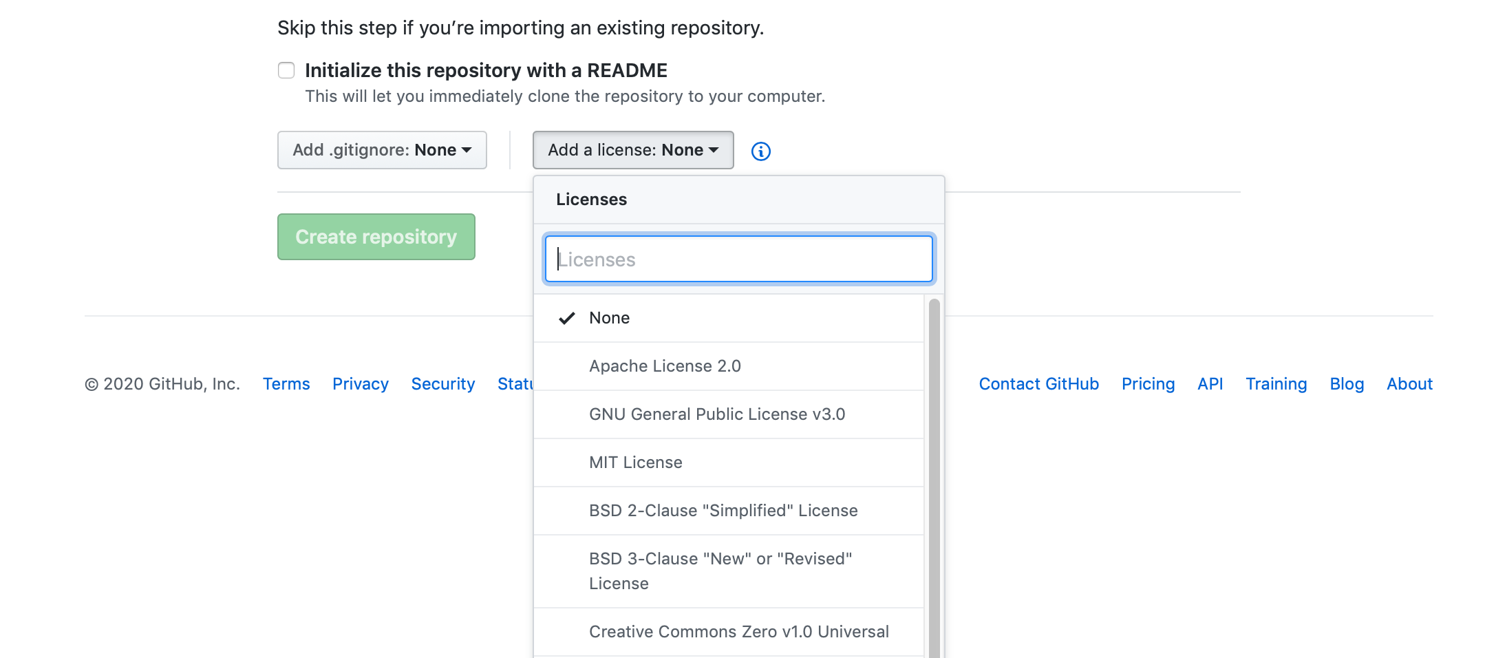 Choosing a license for a project on Github.com
